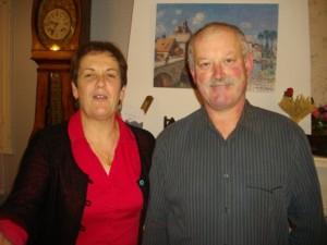 Yvonne et Gérard des Gîtes de l'Hopiteau
