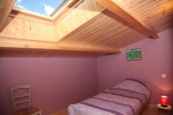 La chambre avec son puits de lumière