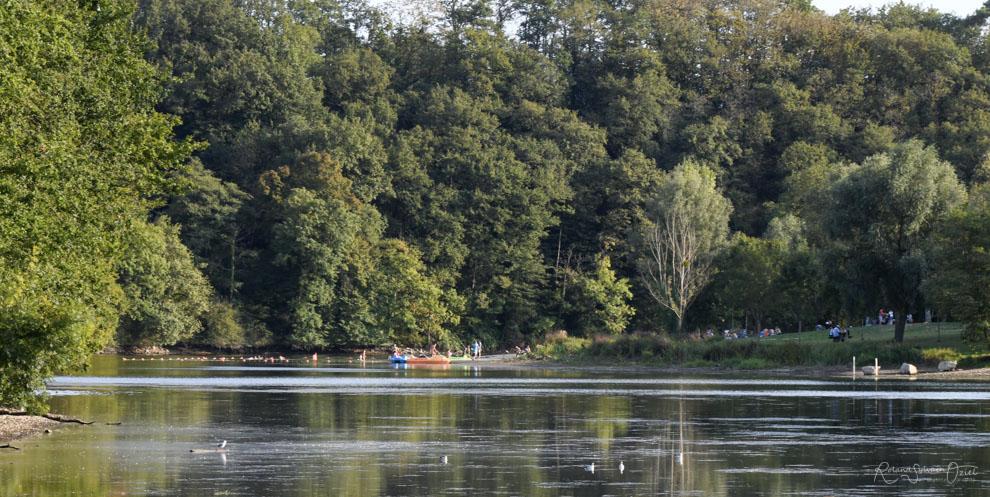 Lac de retenue de touchegray avec sa base de loisirs à Chantonnay