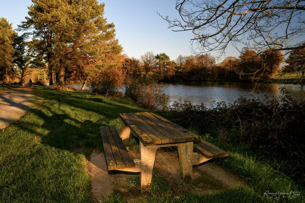 Gîtes proches d'un étang avec des tables de pique-nique