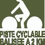 Gîtes à 2 km des pistes cyclables