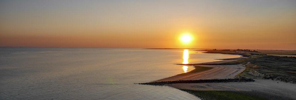 Coucher de soleil sur la Pointe de l aiguillon sur mer
