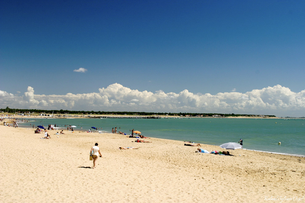Plage de sable fin à la tranche sur mer, la grande plage