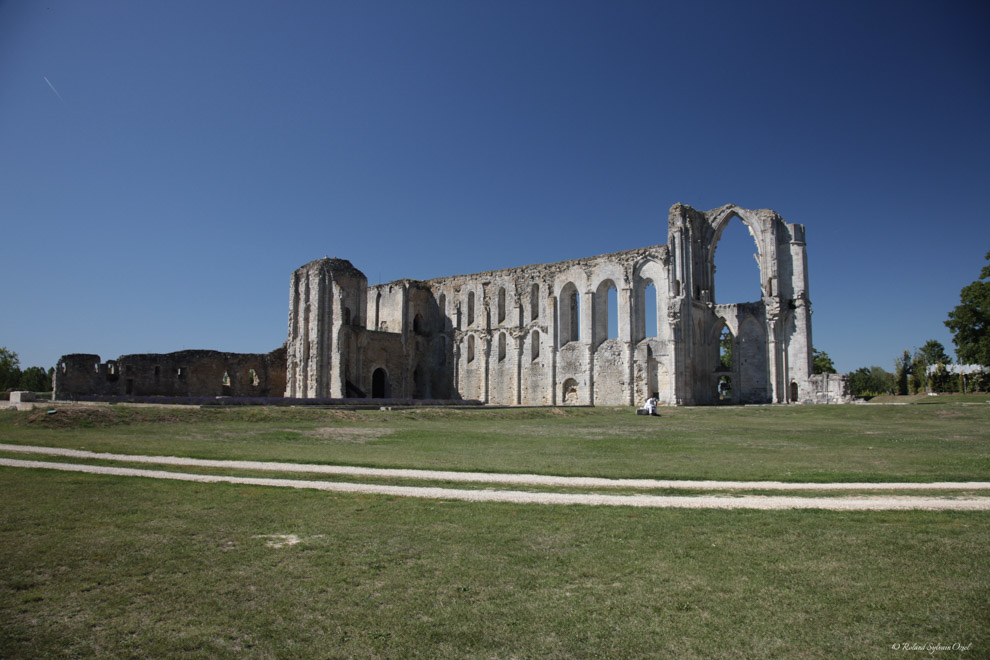 Abbaye de Maillezais dans le Marais Poitevin.