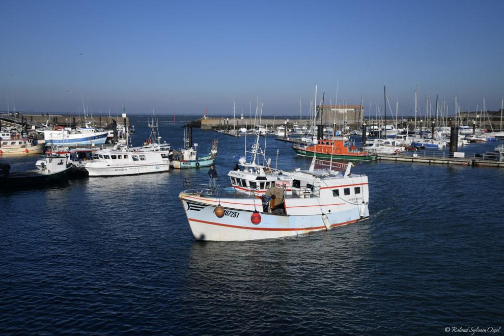 Bateau de pêche à l'herbaudière noirmoutier